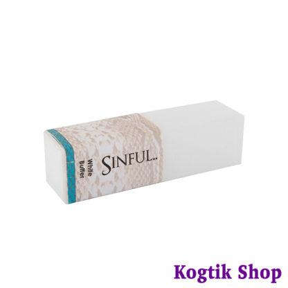 Блок шлифовочный Sinful 100/180, белый
