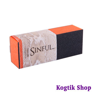Блок шлифовальный 100/180 Sinful оранжевый