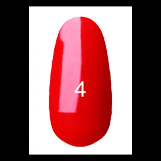 Гель-лак Kodi №4 (классический красный, витражный эмаль) 7 мл.