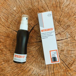 Противогрибковый спрей для ног с дезинфицирующим эффектом Mykored 75мл, Германия.