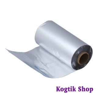 Фольга алюминиевая для снятия гель-лака 250м, 14 мкм.